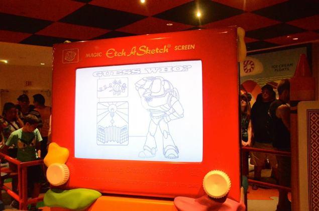 Toy Story Mania EtchASketch
