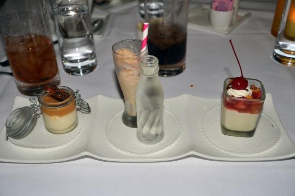 California Grill dessert trio