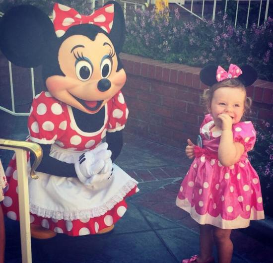 Hallie with minnie