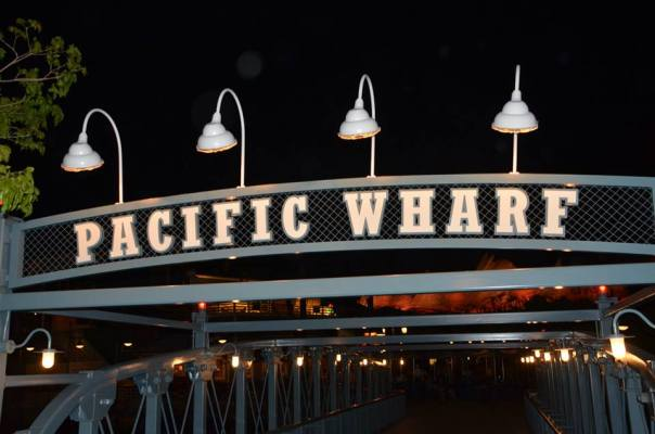 Pacific Wharf bridge