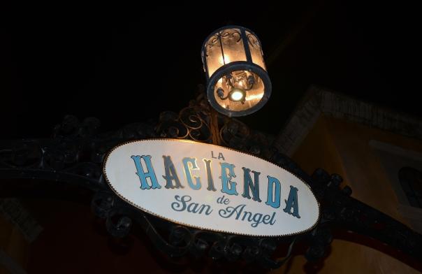 La Hacienda sign
