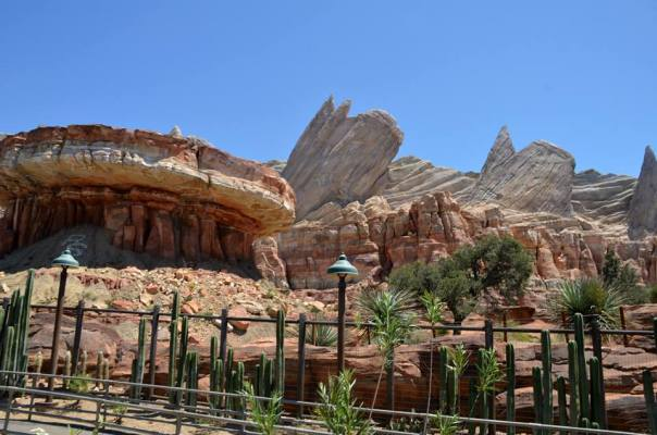 Cars Land path