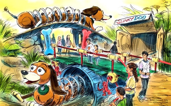Slinky dog coaster