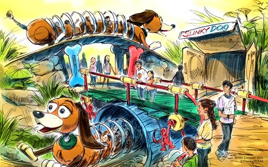 Slinky dog coaster
