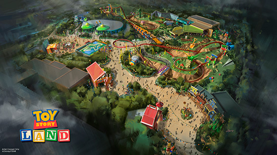 Toy Story Land will likely come to the park in 2018. (Photo via the Disney Parks Blog)
