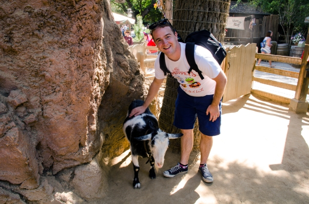 Andrew and goat