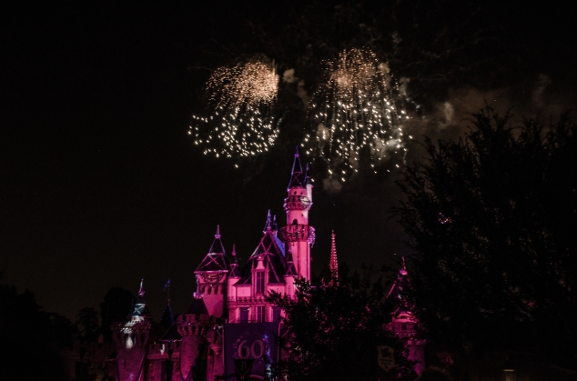 Fireworks old fashioned Disneyland Forever