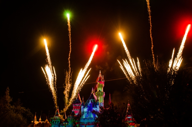 red yellow green Disneyland Forever