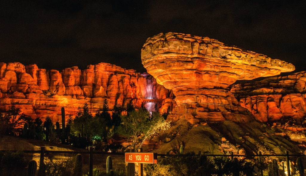 Cars Land night as you go rock
