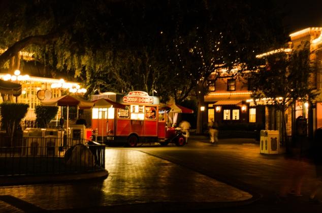 Corn Dog wagon at night