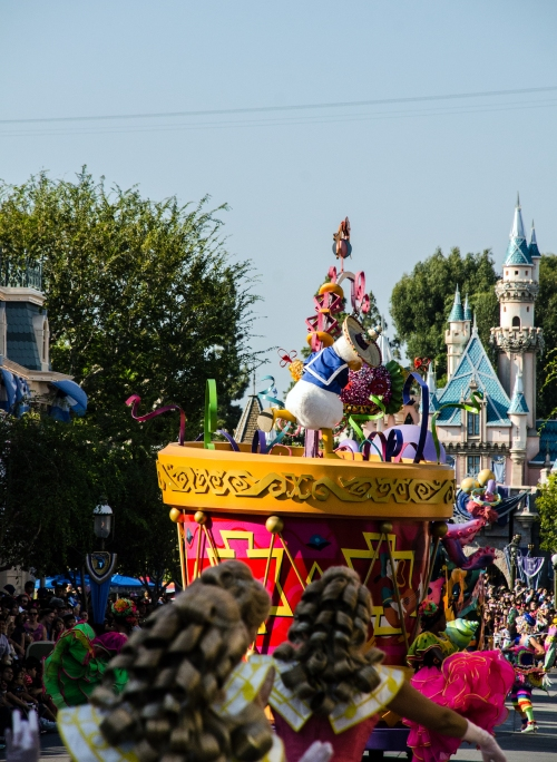 donald and the castle parade