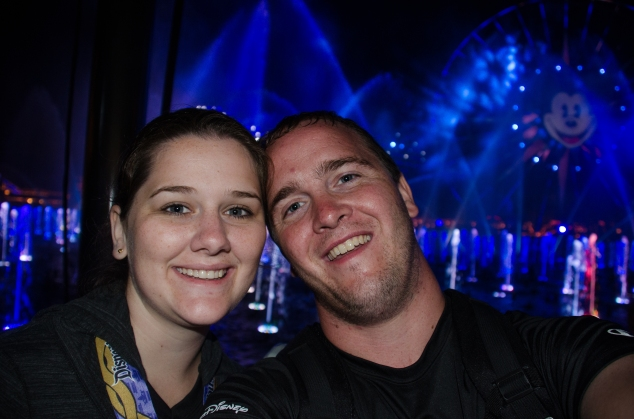 Melissa and I at World of Color