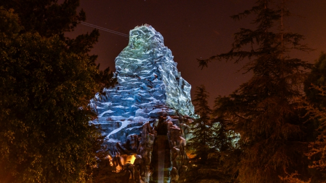 Matterhorn night waterfall