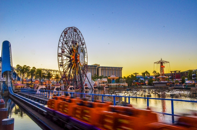 sunset california screamin paradise pier