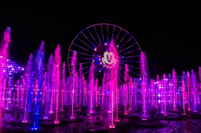 World of Color Pink high fountains